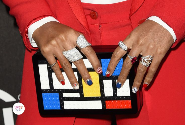 Janelle Monae - jewelry details at the Billboard Power 100 red carpet