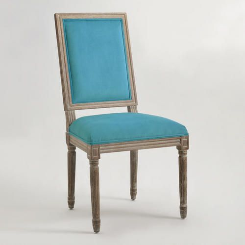 Peacock Square-Back Paige Dining Chairs, Set Of 2