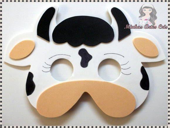 molde de mascara de vaca em eva - Pesquisa Google