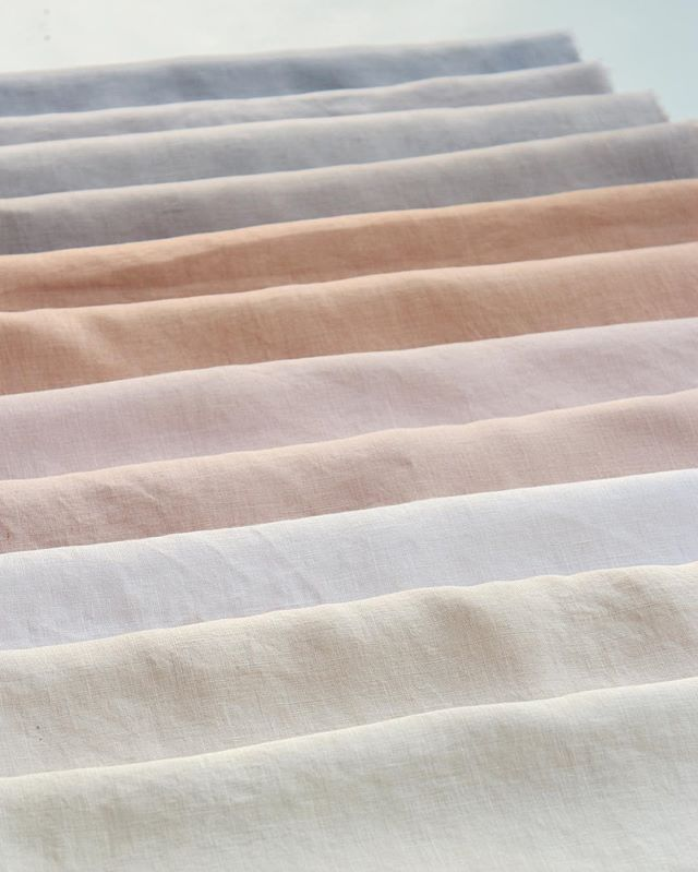 Shades of naturally dyed eucalyptus on linen fabric. So many different natural color variations from this one dye plant!