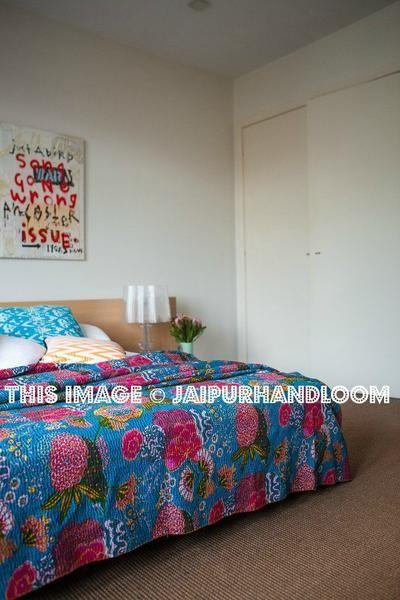 134 best Queen Kantha Quilts Throws – Jaipur Handloom images on ... : lightweight quilts for summer - Adamdwight.com