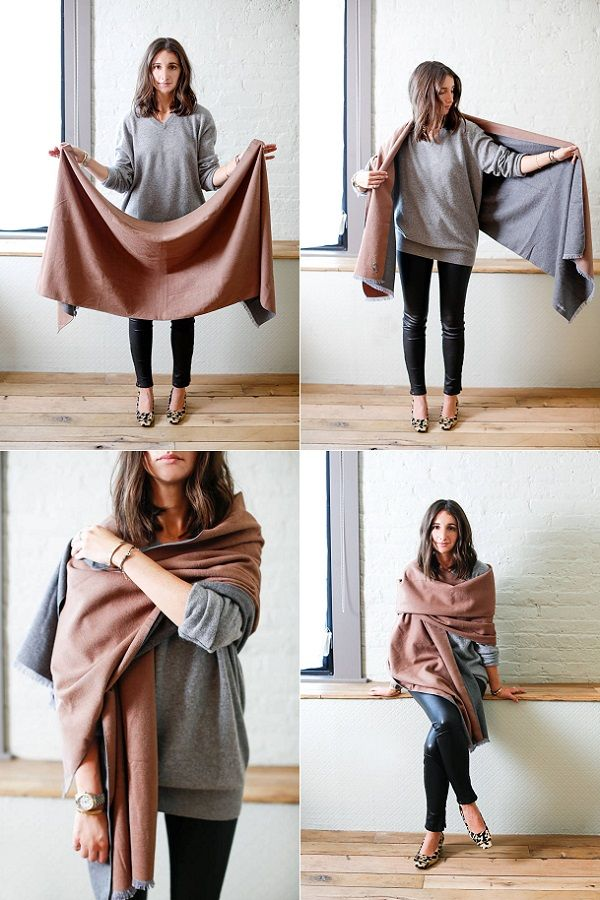 7 Different Ways To Wear A Scarf This Winter Ways To
