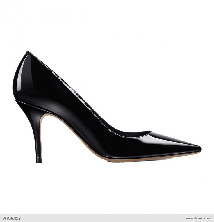 Pump Mid-Heel in Patent Leather    by Dior @Shoenzy