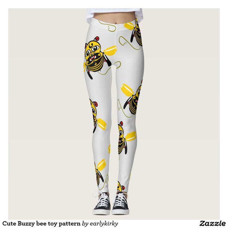 Cute Buzzy bee toy pattern Leggings