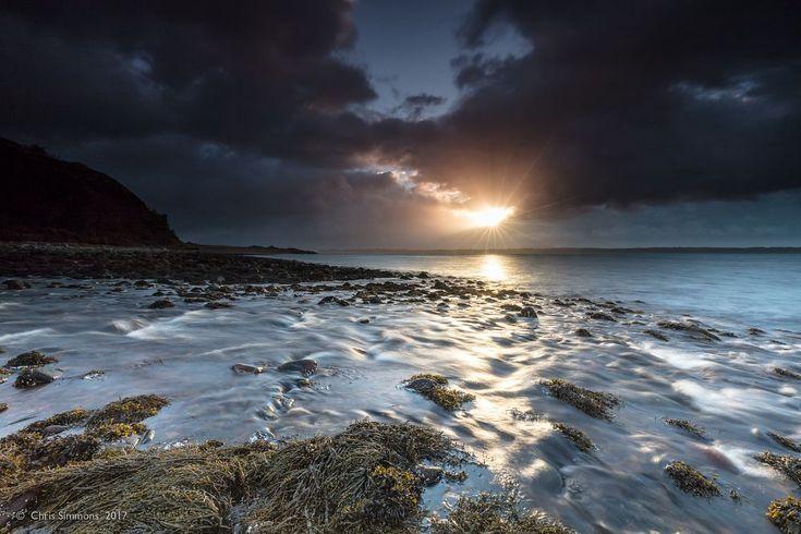 Eigneig Bay Sunburst by Chris Simmons Photography