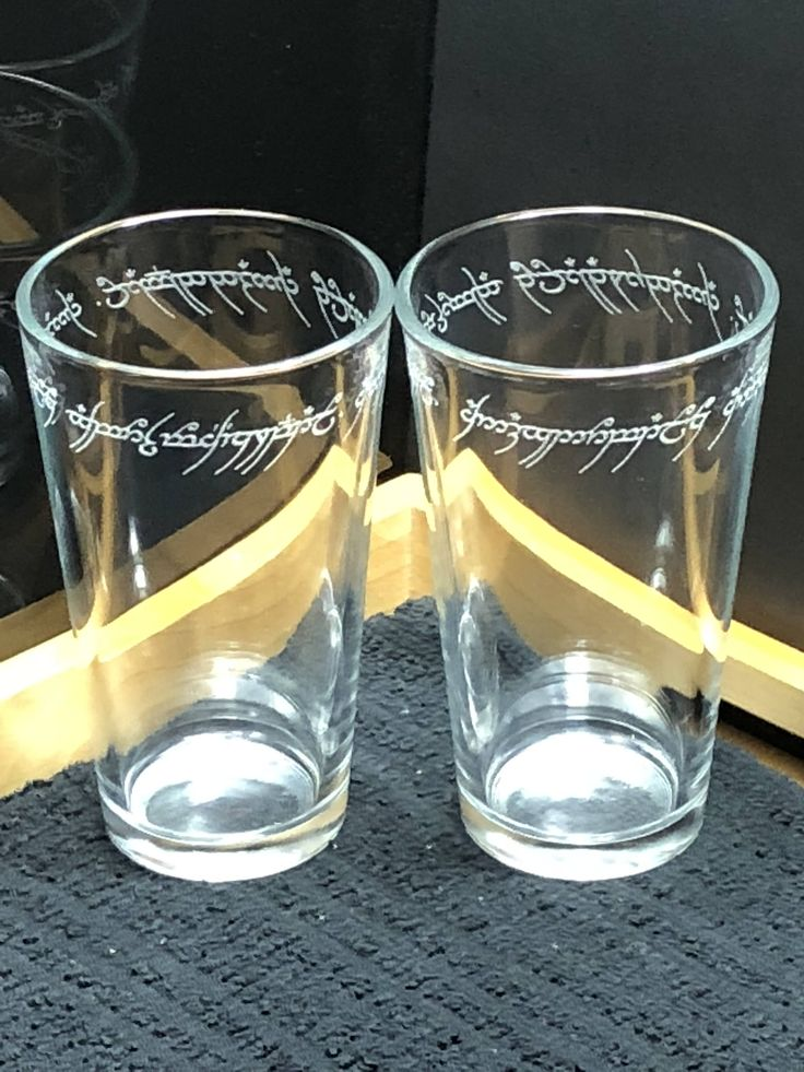"""Just created these to add to my #etsy shop: Beautifully Etched """"One Ring"""" Inspired Pint Glasses - Please """"Like"""" and """"Share"""" with your Lord of the Rings friends - LOTR - Book Club Gift - Rings Wedding - Gift Idea - LOTR Glasses http://etsy.me/2nBf0WW #housewares"""