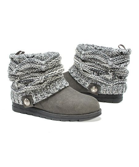 MUK LUKS Gray Pattie Sweater Boot - Women | zulily