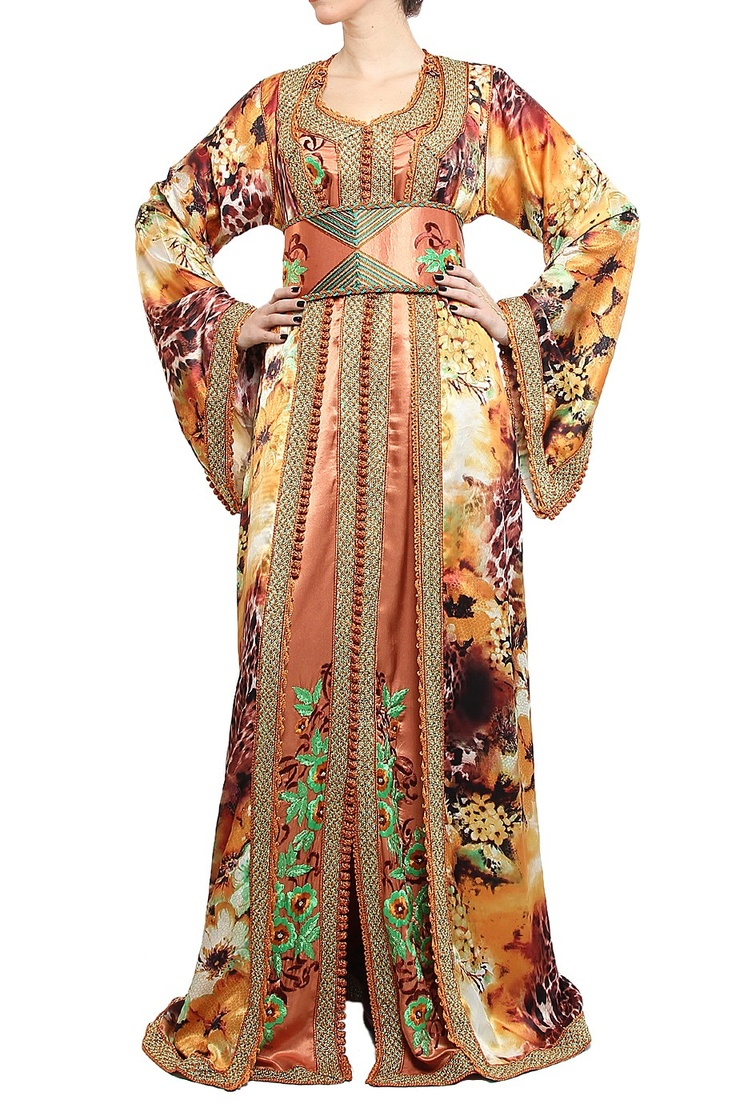 Beautiful  Evening Dress Gown Robe De Soiree Formal Moroccan Dresses Dubai Dress