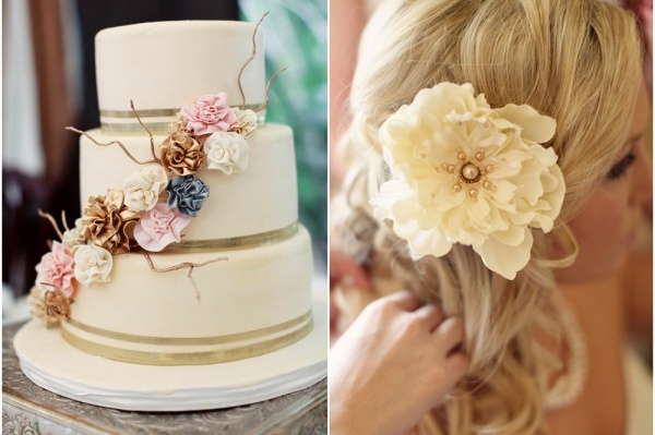 pink and gold wedding color