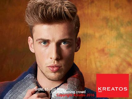 "Kreatos kapsels voor mannen - herfst trends 2016- Uit de collectie ""Far from the maddening crowd"""