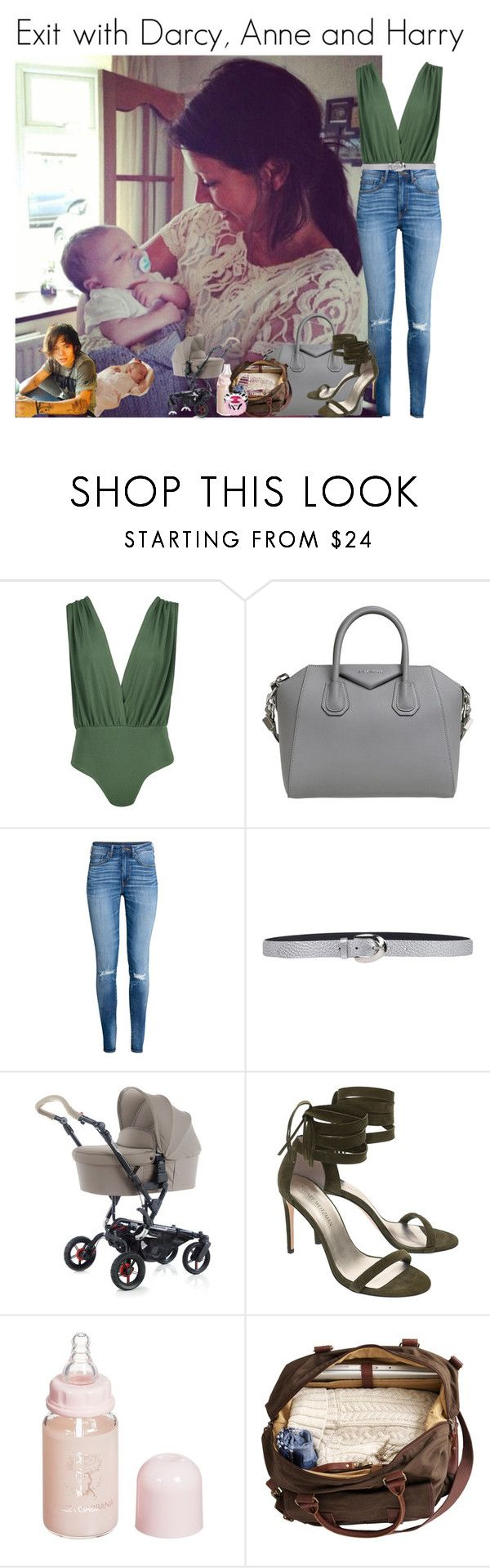 """Exit with Darcy, Anne and Harry"" by louise-smiths ❤ liked on Polyvore featuring Boohoo, Givenchy, H&M, Orciani, Stuart Weitzman and Dolce&Gabbana"