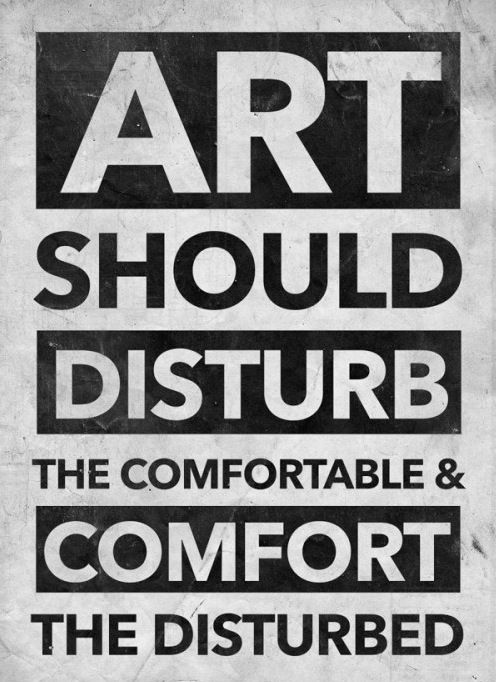 So are you comfortable or disturbed?