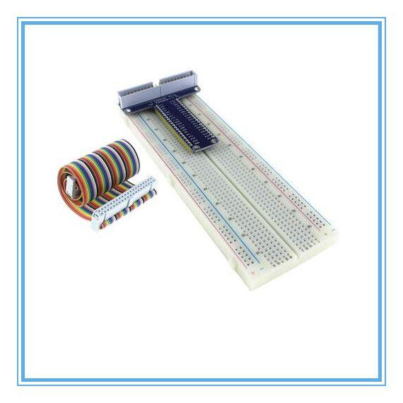 Raspberry Pi 3&Raspberry Pi 2 Model B GPIO adapter plate gold plug-in version+MB-102 830 points Breadboard +GPIO cable kit #Affiliate