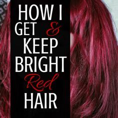 The Haunted Housewife - Here's what I do to get and keep my bright red hair!