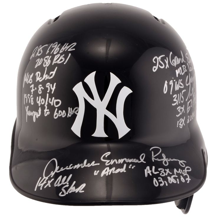 MLB Alex Rodriguez New York Yankees Fanatics Authentic Autographed Replica Batting Helmet with Career Stats Inscriptions - Limited Edition of 13
