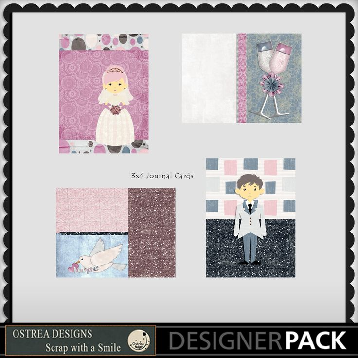 A small wedding journal cards ostreadesigns.com