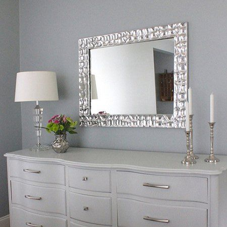 How to make a knock-off metallic mirror frame