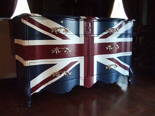 everything british | All things British / Quite a lovely union jack dresser. I could ...