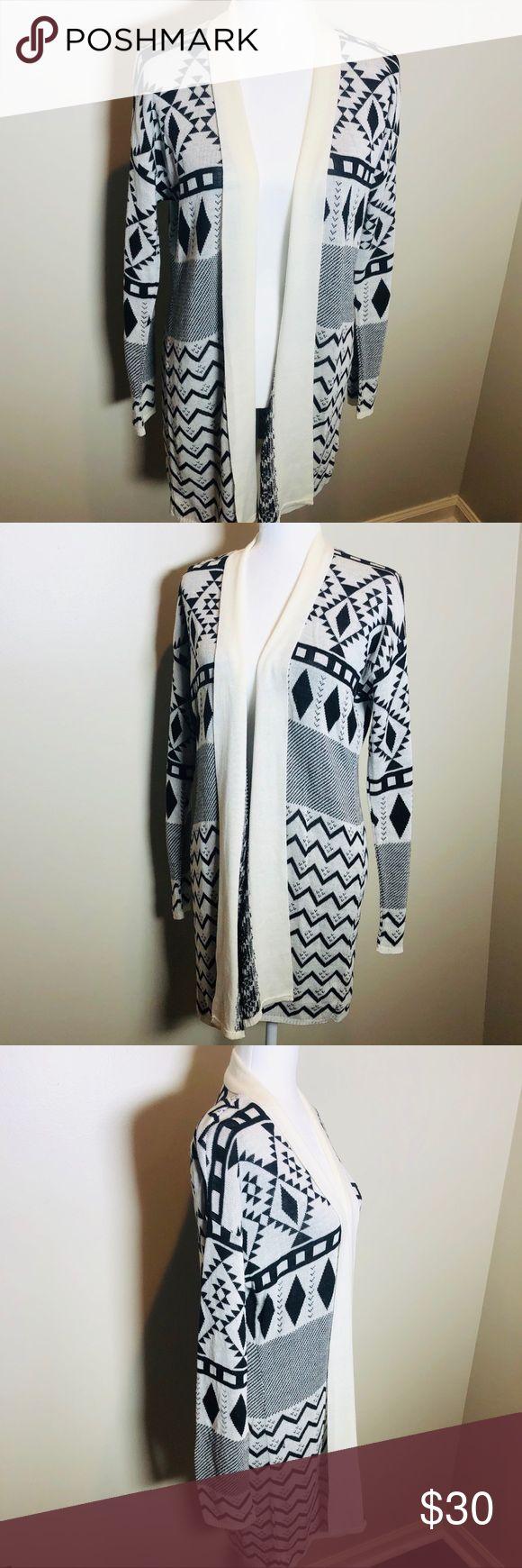 Beautiful Boho chic Long Tribal Sweater Never worn Beautiful Boho chic black and… – My Posh Picks