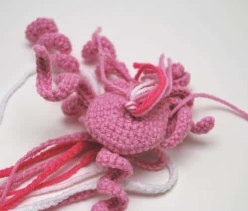 Large Amigurumi Jellyfish - Crochet Jellyfish Plushie - Large ... | 424x498