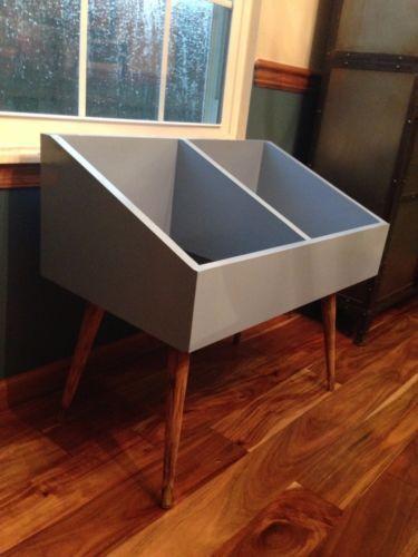 lp storage furniture. hand made vinyl record cabinet for lp storage mid century modern lp furniture