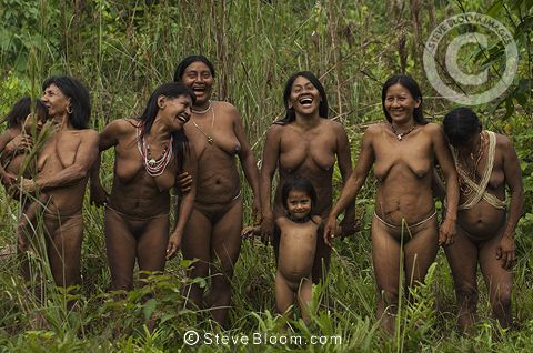 Huaorani Indians, Yasuni National Park, Amazon rainforest ...