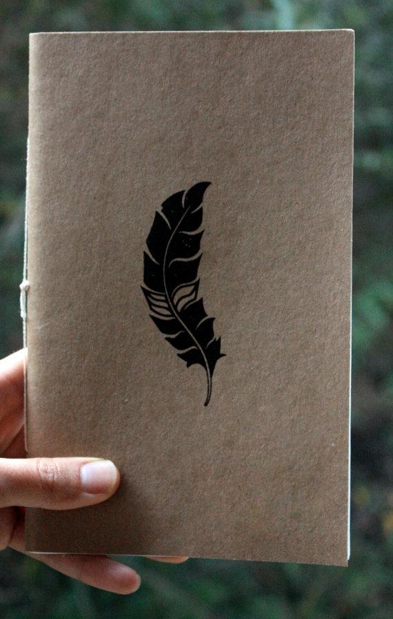 screen-printed - handmade notebook  http://www.etsy.com/shop/littlejoisel