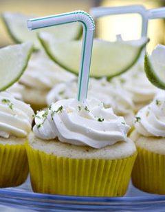 *10 Booze Infused Cupcakes to Lift Your Spirits (1. Cosmopolitan, 2. Irish Car Bomb, 3. Margarita, 4. Mint Julep, 5. Mojito, 6. Mudslide, 7. Appletini, 8. Piña Colada, 9. Sangria, 10. Tequila Sunrise)