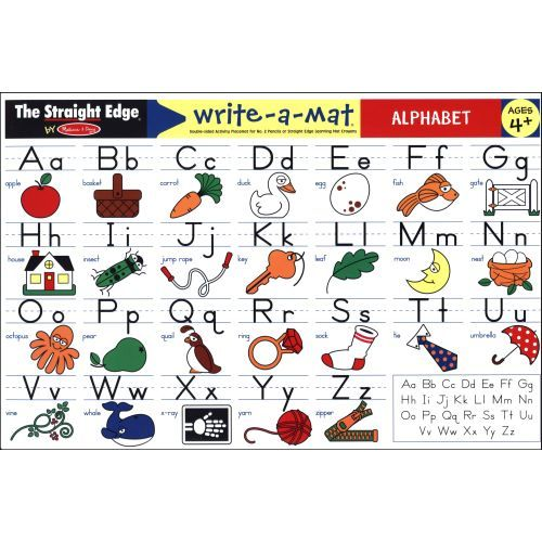Alphabet Write-A-Mat | Children's Education | CALENDARS.COM - $3.99 Double-sided activity place mat for No. 2 pencils or Straight Edge Learning mat crayons. For ages 4 and up.
