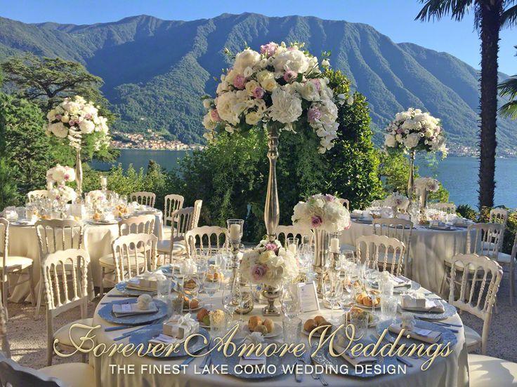 Villa Balbianello wedding, beautiful wedding reception at Lake Como, al fresco dinner on the terrace of the Loggia Segrè. Wedding by ForeverAmoreWeddings #foreveramoreweddings © #villabalbianellowedding #lakecomoweddings