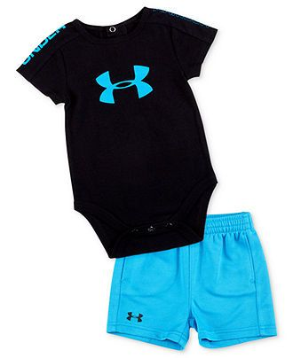 Under Armour Baby Set, Baby Boys 2-Piece Integrity 2.0 Bodysuit and Shorts - Kids Baby Boy (0-24 months) - Macy's