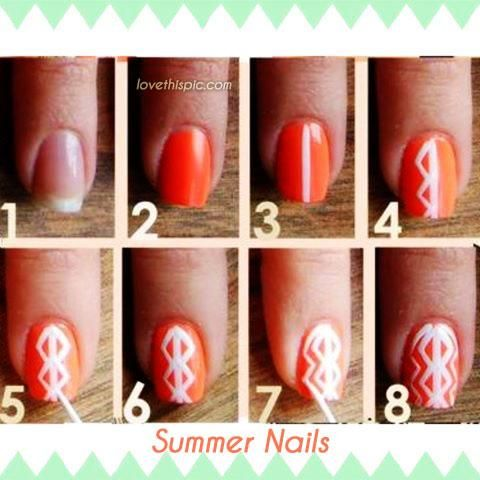 123 best difficult and expert diy nail designs and tips images on diy summer nails diy nails art prinsesfo Images