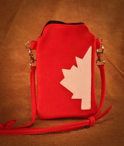 Deerskin Canadiana Cellphone purse. #leather #Canada #handmade #rockwood #ontario #like #daily #fashion #hidesinhand