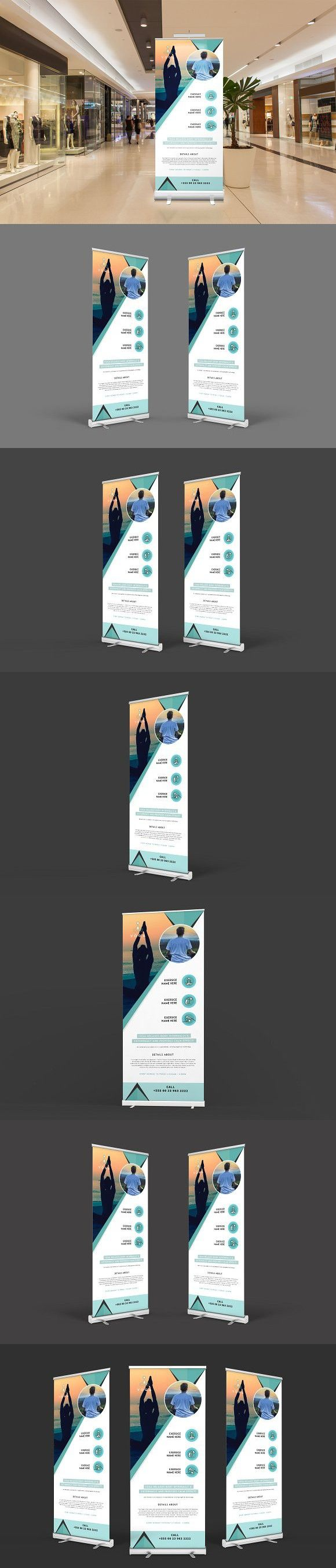 Yoga Roll-up Banner #banner #roll-up