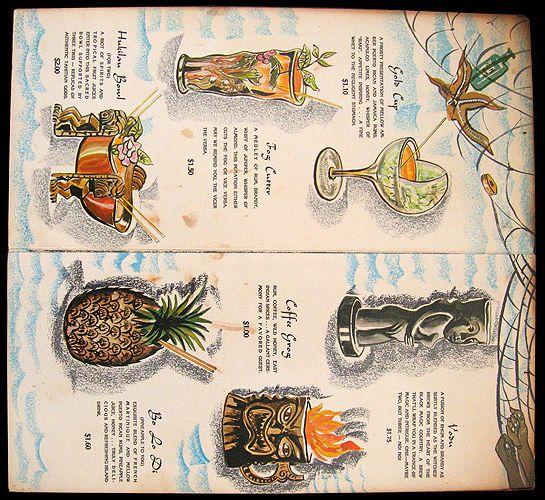 The Hukilau cocktail menu
