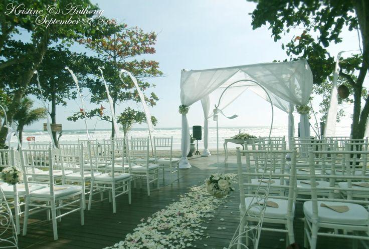 wedding pergola, and ceremony area set-up . . .