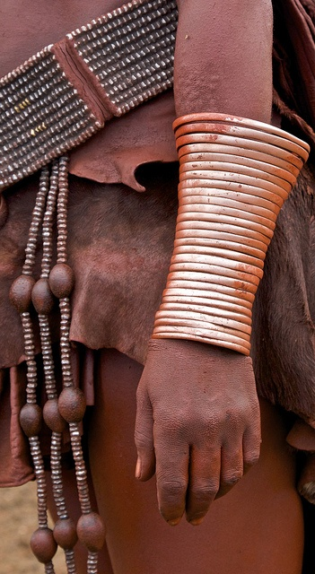 Himba decoration. Simple, elegant and usually covered in ochre and fat.    © Tim Thornton.