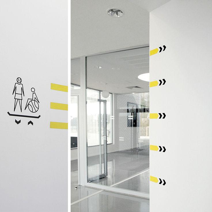 Signalétique salle multi activites mouvaux