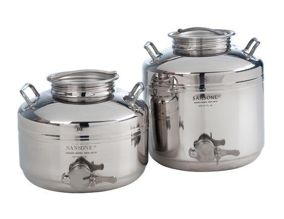 Sansone Honey Stainless Steel Honey Containers
