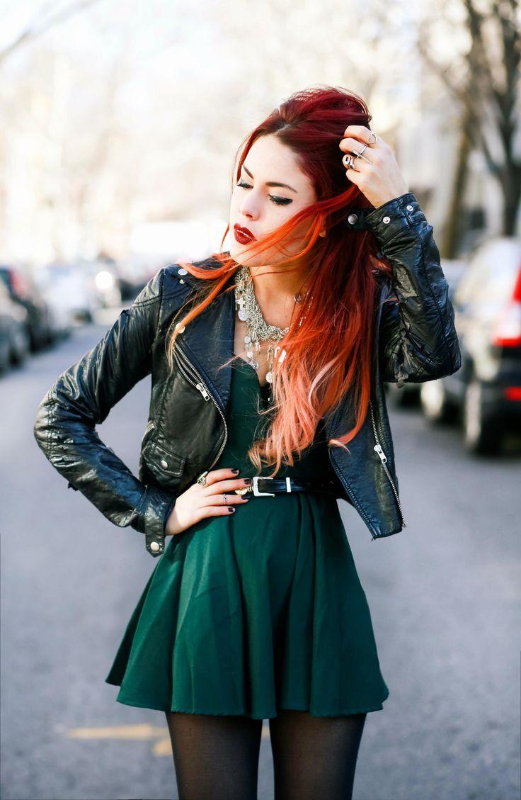 Luanna  of Love Out of Lust in the Nasty Gal Sweetheart Skater Dress    Get the dress: http://www.nastygal.com/product/nasty-gal-sweetheart-skater-dress--hunter-green?utm_source=pinterest&utm_medium=smm&utm_term=ngdib&utm_content=nasty_gals_do_it_better&utm_campaign=pinterest_nastygal