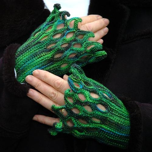 Wollmeise wristlets by Celtic Memory