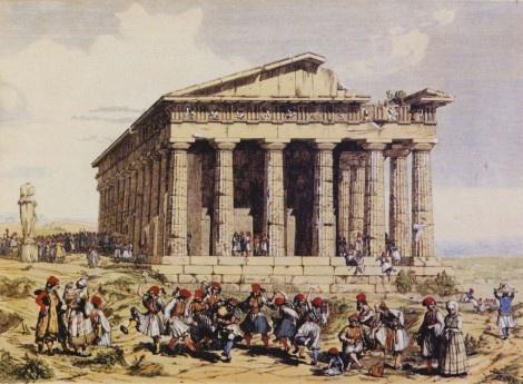 Andrea Gasparini, Το Θησείο, 1842. Mουσείο της πόλης των Αθηνών. Πηγή: www.lifo.gr