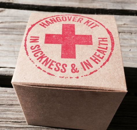 10 Hangover kit boxes hangover recovery kit by EverlongEvents