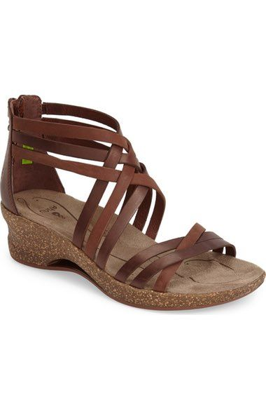 Ahnu 'Trolley' Leather Wedge Sandal (Women) available at #Nordstrom