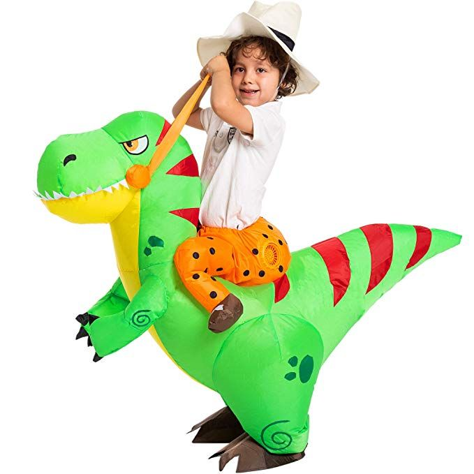 Amazon Com Spooktacular Creations Halloween Inflatable Costume Ride A T Rex Dinosaur Deluxe Halloween Costumes Halloween Costumes For Kids Inflatable Costumes