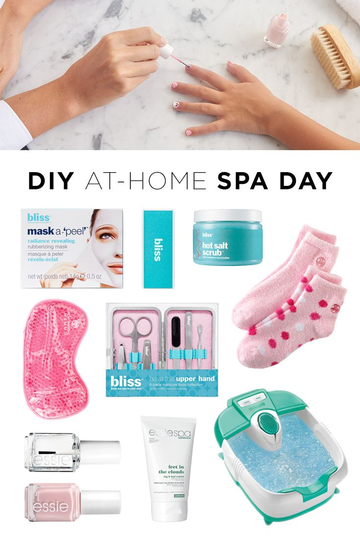 Get that relaxing spa-day feeling without ever leaving the house (or changing out of your pajamas). Grab your best friend or make it a mother-daughter day and plan a day in. Featured product includes: bliss mask-a-peel face mask, nail buffing tool, salt scrub and manicure tool set, Earth Therapeutics sleep mask and aloe socks, essie top coat nail polish, Go Go Geisha nail polish and leg and foot cream and Conair foot bath. Get your relaxation on at Kohl's.