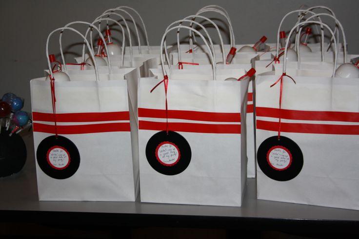bowling themed- loot bag