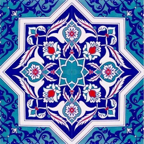 Turkish tile  MOSAICOS ARABES  Azulejos turcos