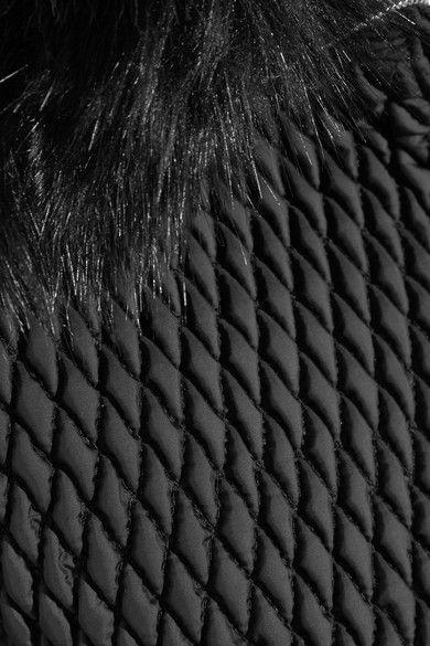 Fusalp - Montana Faux Fur-trimmed Quilted Ski Jacket - Black - FR40