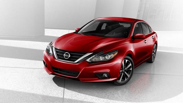 2016 Nissan Altima Front Profile shown in Red